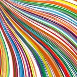 L'arc-en-ciel d'art abstrait incurvé raye le fond coloré Photos stock