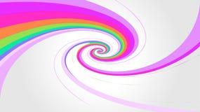 L'arc-en-ciel de remous colore l'effet sur le fond gris, modren le style en spirale d'arc-en-ciel de couleurs, couleurs multi de  illustration libre de droits
