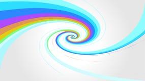 L'arc-en-ciel de remous colore l'effet sur le fond gris, modren le style en spirale d'arc-en-ciel de couleurs, couleurs multi de  illustration de vecteur