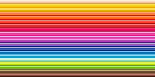 L'arc-en-ciel de spectre coloré crayonne l'outil de dessin de rangée photographie stock libre de droits