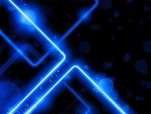 L'arc-en-ciel raye le laser de néon de fond Photo libre de droits