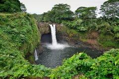 L'arc-en-ciel tombe près de Hilo, grande île d'Hawaï Photo stock