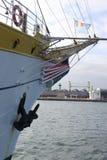 L'arc et l'ancre du bateau images libres de droits