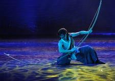 L'arc et la flèche-Le énormes dansent le drame la légende des héros de condor Image stock