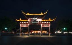 L'arcade dans le temple de Confucius Photographie stock libre de droits
