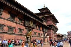 L'architecture autour de la place de Patan Durbar, un héritage de l'UNESCO photographie stock