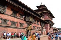 L'architecture autour de la place de Patan Durbar, un héritage de l'UNESCO photographie stock libre de droits