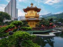 L'architecture chinoise classique de Nan Lian Garden en Hong Kong images libres de droits