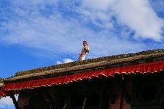 L'architecture dans la place durbar de Katmandou au Népal Photos stock