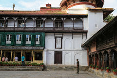 L'architecture dans la place durbar de Katmandou au Népal Photographie stock