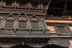 L'architecture dans la place durbar de Katmandou au Népal Photographie stock libre de droits