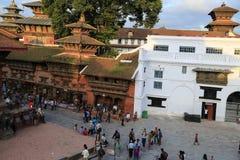 L'architecture dans la place durbar de Katmandou au Népal image stock