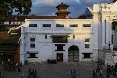 L'architecture dans la place durbar de Katmandou au Népal Images libres de droits