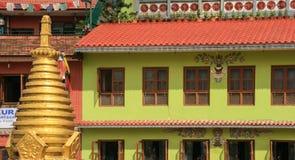 L'architecture dans le boudhananth à Katmandou, Népal image stock
