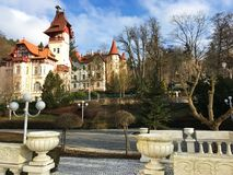 L'architecture de la République Tchèque de station touristique images libres de droits