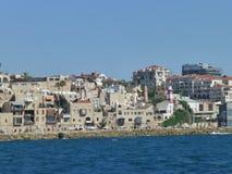L'architecture de la vieille ville arabe sur la mer Méditerranée images libres de droits