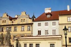 L'architecture de Lesser Town à Prague Photos libres de droits