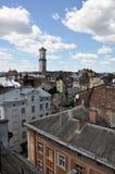 L'architecture globale de Lviv Image libre de droits