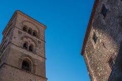 L'architecture médiévale imposante en Espagne Image stock