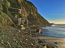 L'architecture unique de la Chambre de champignon d'avant de plage à La Jolla, la Californie Image libre de droits