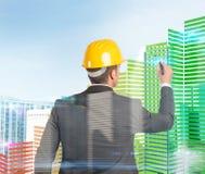 L'architetto progetta le configurazioni 3d Fotografia Stock