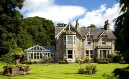 L'architettura baronale scozzese vittoriana Fotografia Stock