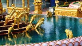 L'architettura del tempio cinese Bangsaen in Tailandia archivi video