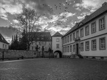 L'architettura della città Hildesheim, Germania immagini stock