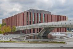 L'architettura sovietica di Katowice, Polonia immagini stock libere da diritti