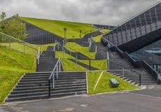 L'architettura sovietica di Katowice, Polonia fotografia stock libera da diritti