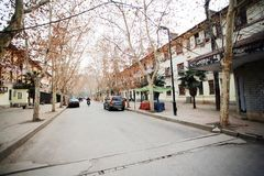 L'architettura sovietica di stile nella città di Zhengzhou Fotografia Stock