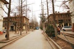 L'architettura sovietica di stile nella città di Zhengzhou Fotografie Stock