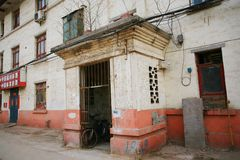 L'architettura sovietica di stile nella città di Zhengzhou Immagine Stock
