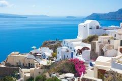L'architettura tradizionale di Santorini. Immagini Stock