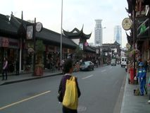 L'architettura in yuan di Yu fa il giardinaggio, Shanghai, Cina stock footage