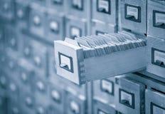 L'archivio o l'indice della carta delle biblioteche ha tonificato l'immagine immagini stock