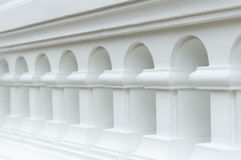 L'arco bianco d'annata Fotografia Stock