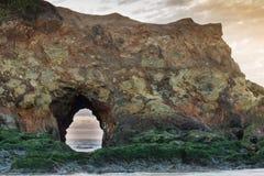 L'arco del mare alla spiaggia di stato di Pescadero, San Mateo County, California, U.S.A. Immagine Stock