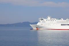 L'arco del traghetto ellenico di spirito, Mar Ionio, Grecia, Europa fotografia stock