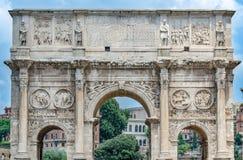 L'arco dell'imperatore Costantina Immagini Stock Libere da Diritti