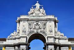 L'arco di Augusta Rua a Lisbona, Portogallo Fotografie Stock