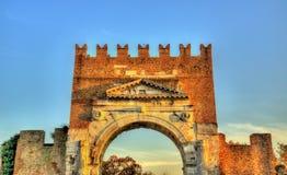 L'arco di Augusto a Rimini Immagine Stock Libera da Diritti