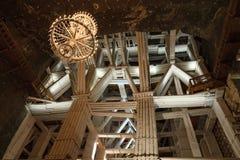 L'arco di legno e rinforza in Wieliczka, Polonia Fotografia Stock Libera da Diritti