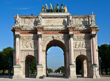 L'Arco di Trionfo Du Carrousel Parigi Fotografia Stock Libera da Diritti