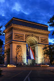L'Arco di Trionfo Parigi Immagini Stock Libere da Diritti