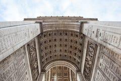 Dettagli l'immagine dell'Arco di Trionfo Parigi - in Francia Immagine Stock
