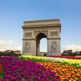 L'Arco di Trionfo, Parigi, Francia Fotografia Stock Libera da Diritti
