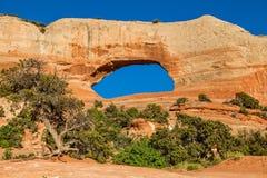 L'arco di Wilson scenico vicino a Moab Utah Fotografie Stock Libere da Diritti