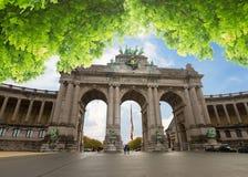 L'arco trionfale a Bruxelles Fotografia Stock Libera da Diritti