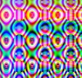 L'arcobaleno abbottona il modello geometrico Immagine Stock Libera da Diritti